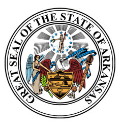State seal of arkansas vector