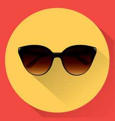 sun glasses for women flat icon vector image