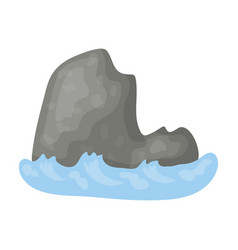 the mountain which stands at userage seamountain vector image