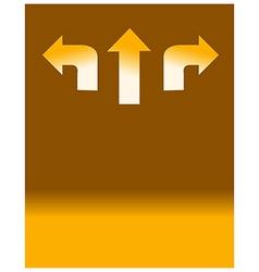 three direction Arrow vector image vector image