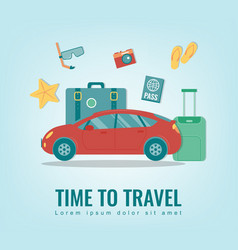travel background summer holidays travel and vector image vector image
