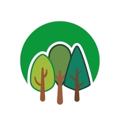 tree plant forest hand drawing isolated icon vector image