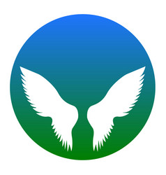 wings sign white icon in vector image vector image