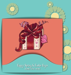 With spring and giftbox vector