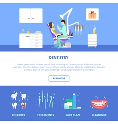 Dental care template vector image