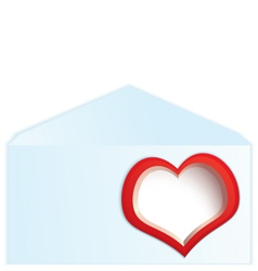 Red heart address space vector image