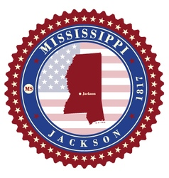 Label sticker cards of state mississippi usa vector