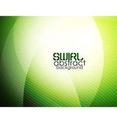 Abstract green waves vector