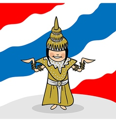 Welcome to Thailand people vector image