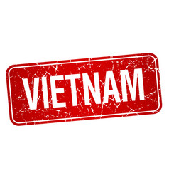 Vietnam red stamp isolated on white background vector