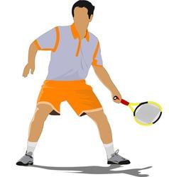 al 0311 tennis player 02 vector image