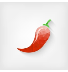 Polygonal chili pepper vector