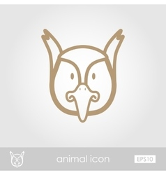 Pheasant icon animal head vector
