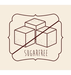 Sugar free product vector
