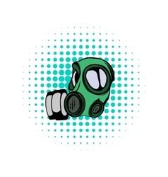 Gas mask comics icon vector