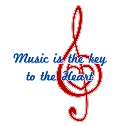 Heart in a musical clef vector