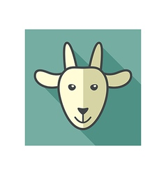 Goat icon farm animal vector