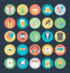 Celebration and party colored icons 1 vector