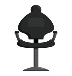 Black barber chair icon cartoon style vector
