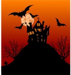 Halloween house flyer vector image