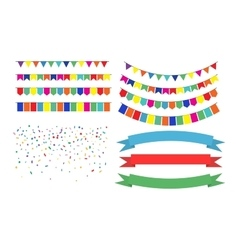 Colorful garlands on white background vector