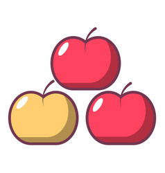 apples icon cartoon style vector image vector image
