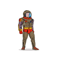 Astronaut space suit science fiction vector