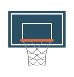 Basketball backboard and net icon vector