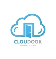 Cloud and door logo concept vector
