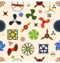 Fans seamless pattern vector