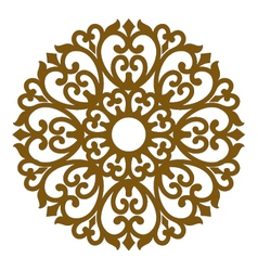 filigree ornament seamless lace pattern vector image