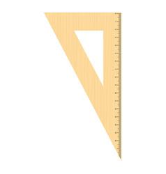 geometric ruler icon flat style vector image