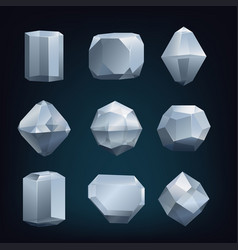 Glass crystal vector