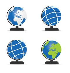 Globe set topography vector