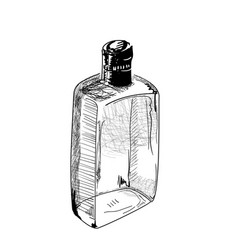 Hand-drawn alcohol bottle vector