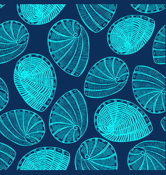 Hand drawn dark shell background vector