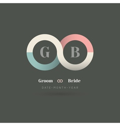 Infinity symbol wedding invitation vector