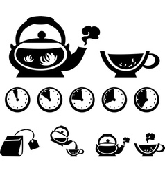 Instructions for making tea vector