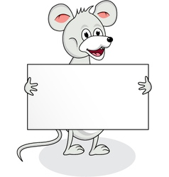 mouse with blank sign vector image vector image