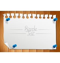 Paper design with blank piece of note vector image
