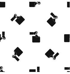 Robbery secret data in folder pattern seamless vector