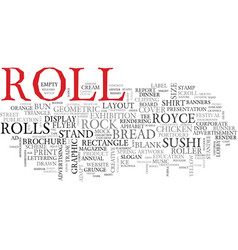 Roll word cloud concept vector