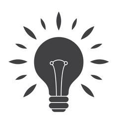 Silhouette light bulb vector