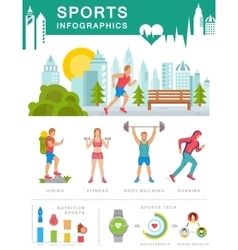 Sports infographics vector