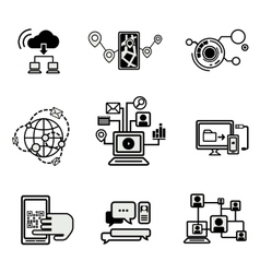 Universal Outline Icons For Web vector image