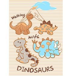 Walking with dinosaurs vector
