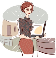 woman in office vector image vector image