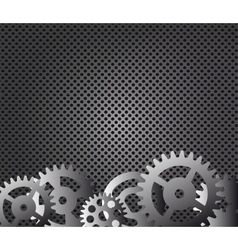 Metal background and gears vector image