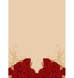 Background with frame of roses vector