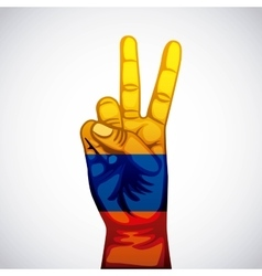 colombian peace hands symbol vector image